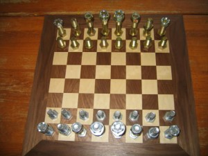Mechanics Chess Set Down To Nuts And Bolts 171 Chess House