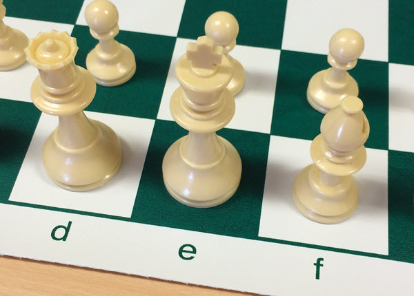 Square and pieces size for club chess set