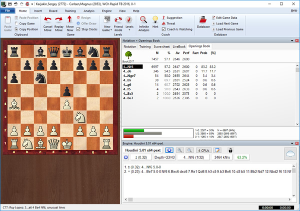 The Houdini 5 chess computer software brings a rejuvenated engine to the board. Its release took some time – but the wait has certainly been worth it!