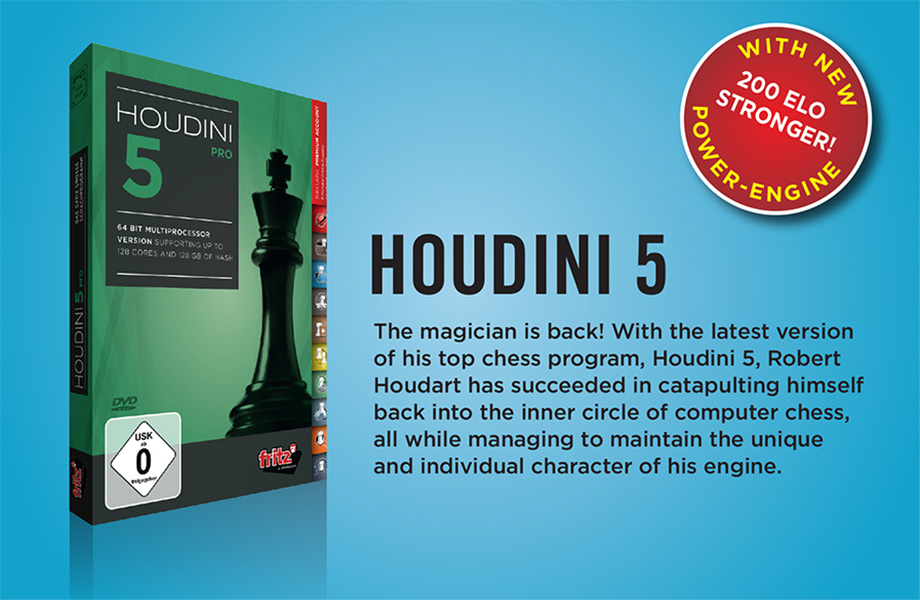 Houdini 5 Chess Computer Software