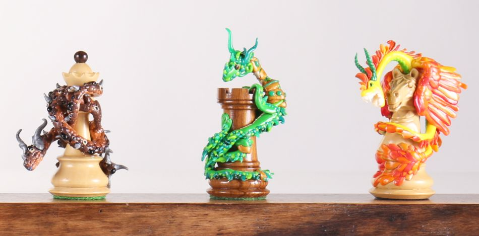 Grace Pyles PicoDragon Chess Pieces