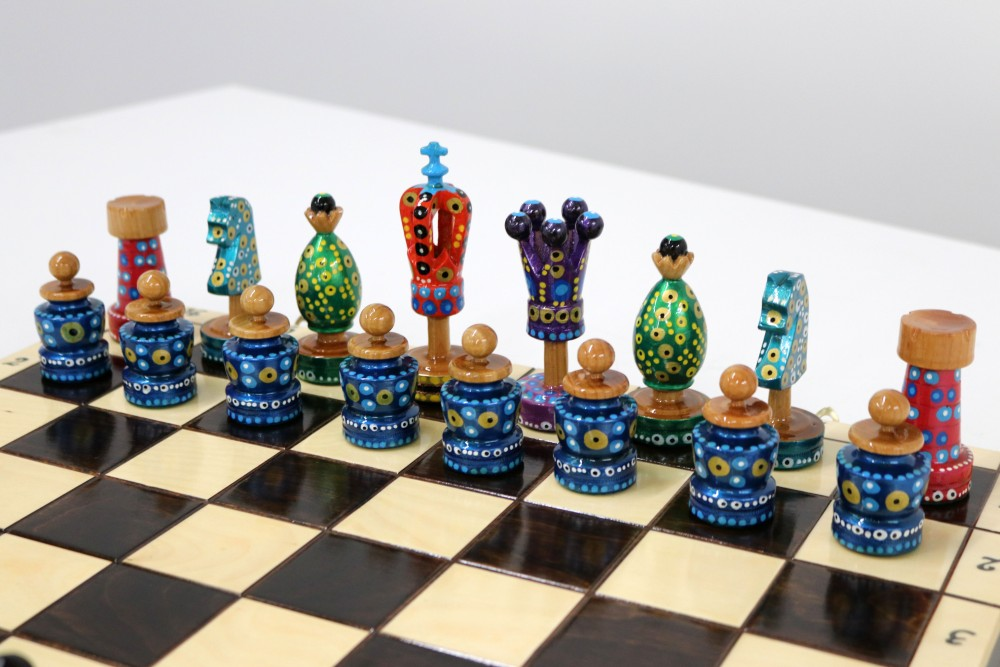 Painted Chess Set 1