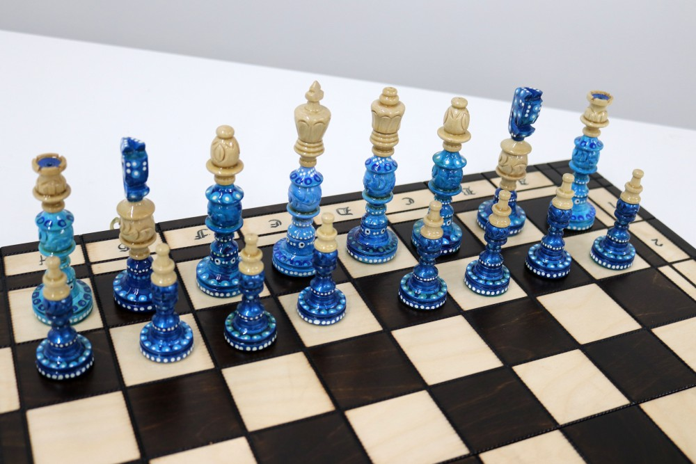 Painted Chess Set Syndey-5