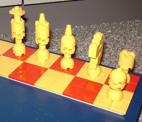 small LEGO chess set