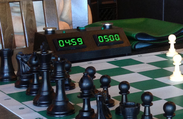 ZMF clock with ultra portable chess set