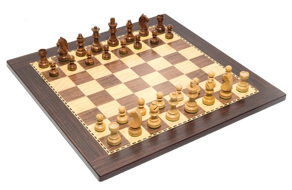 Eco chess board rosewood maple 45cms
