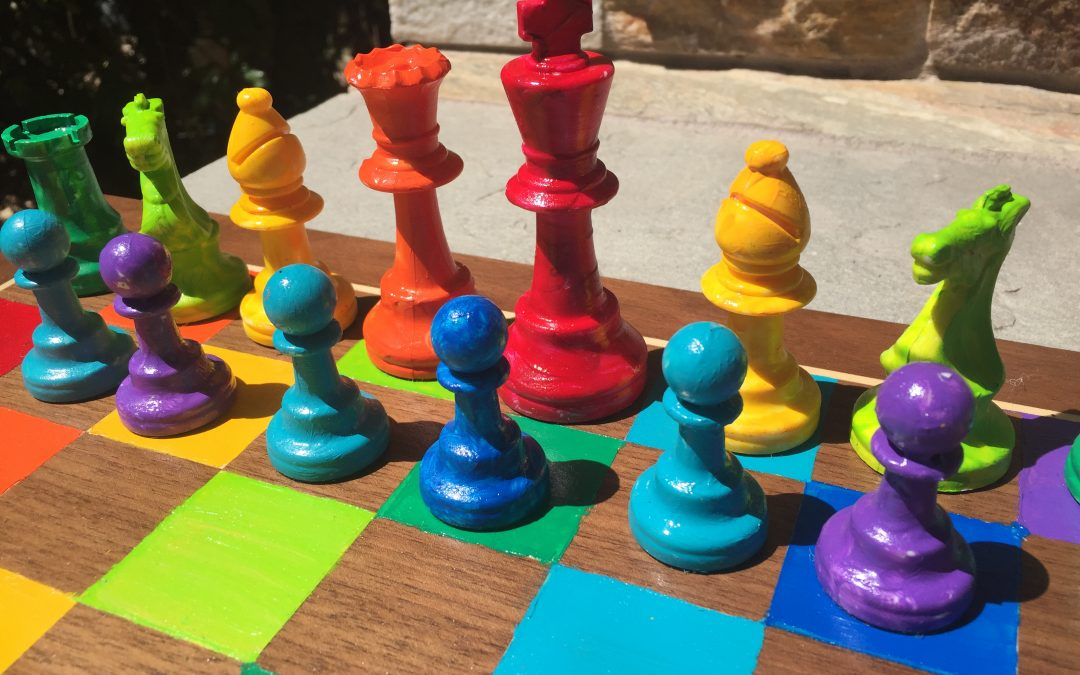 Kindergartners Paint Chess Sets for School Auction