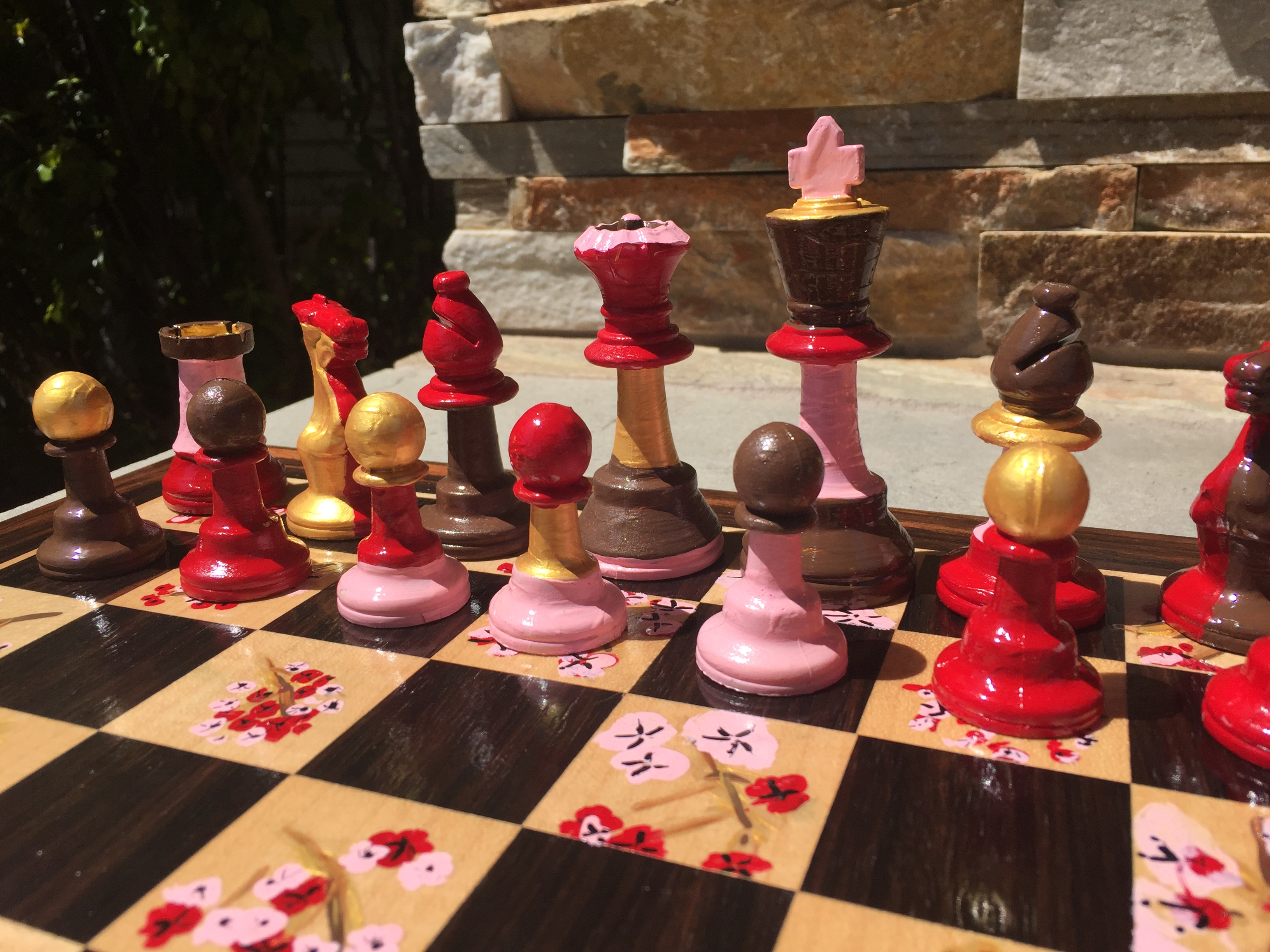 Kindergartners Paint Chess Sets Like this flower one