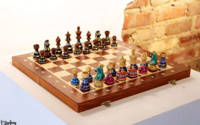 Sydney's Painted Chess Set at Kentuck Museum