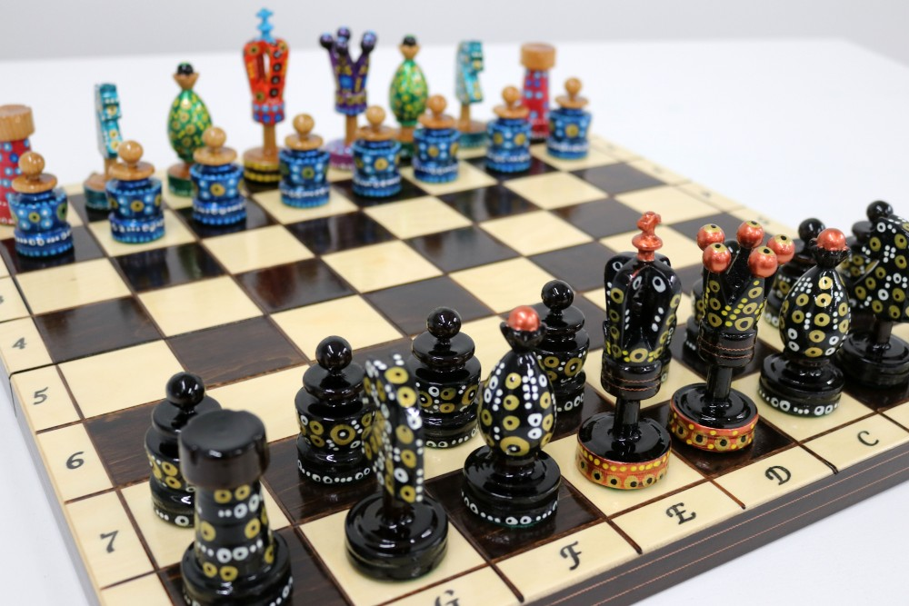 Painted Chess Set Sydney-6