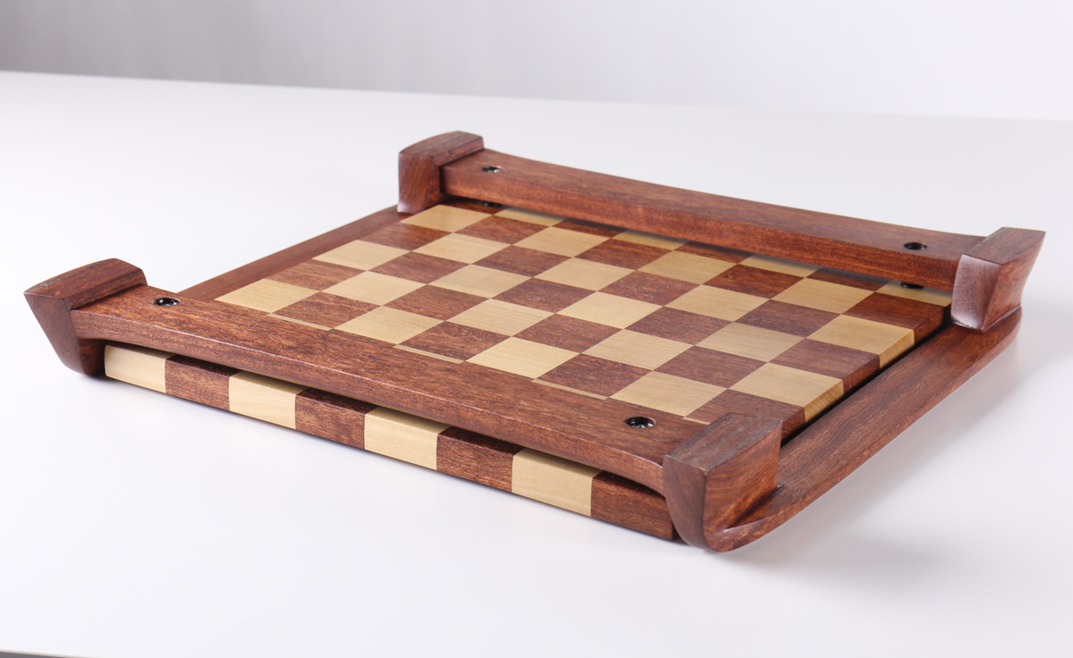 bubinga chess board - underside view